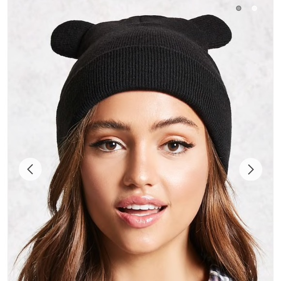Forever 21 Accessories - Forever 21 Cat Ear Knit Beanie 21c8657db885